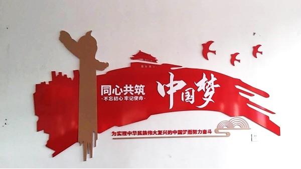 10月7日 柳林屯北屯村党建墙安装完毕