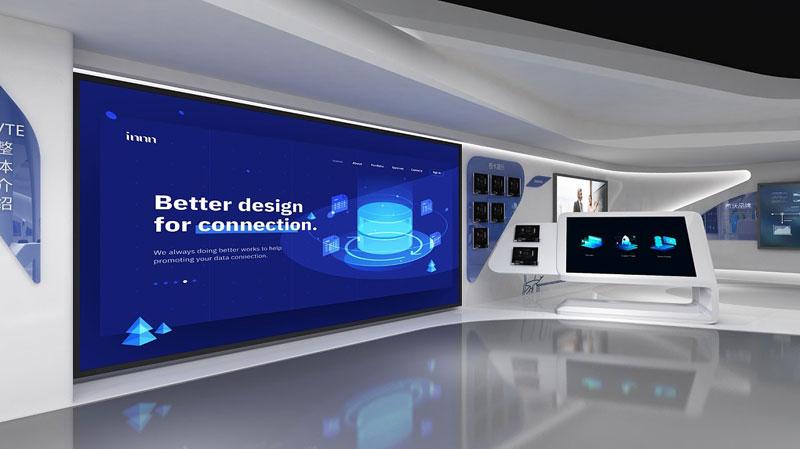 河北创意展厅展馆3D效果图